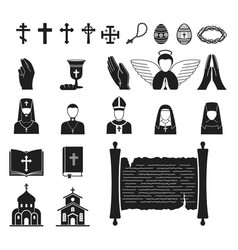 christianity religion religionism flat vector image