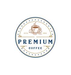 coffee logo - emblem design o vector image