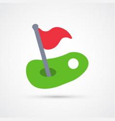 colored golf trendy symbol vector image