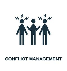 Conflict management icon monochrome simple vector