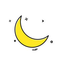 Crescent icon design vector