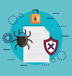 Data center security with document vector