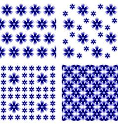 Design seamless cornflower pattern vector image