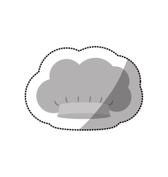 Dotted sticker of chefs hat in cumulus shape vector