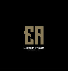 Ea initial letter minimalist art logo vector