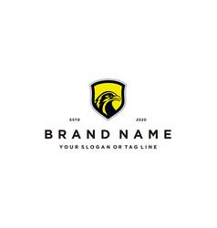 Eagle shield logo design concept vector