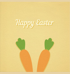 Easter carrot card vector