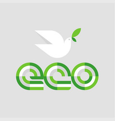 ecology concept with eco lettering and white vector image