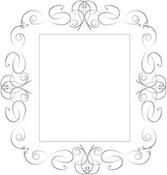 Elegant sliver frame vector image