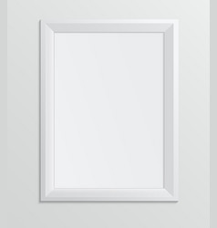 empty white frame on a white background design a4 vector image