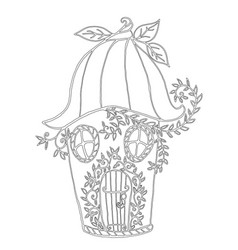 fairy house bellflower children s coloring book vector image