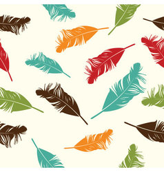 Feather seamless background vector