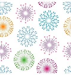 Fireworks seamless pattern background vector