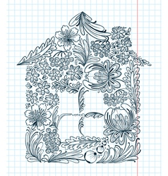 Floral house vector