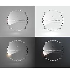 Glass Design Set vector image vector image