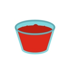 Glass of red apple juice icon vector image