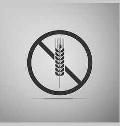Gluten free grain icon no wheat sign vector