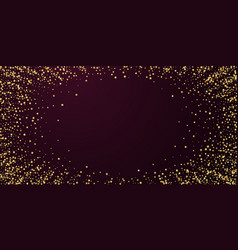 Gold stars luxury sparkling confetti scattered sm vector