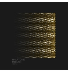 Golden halftone pattern vector image