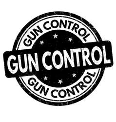 Gun control grunge rubber stamp vector