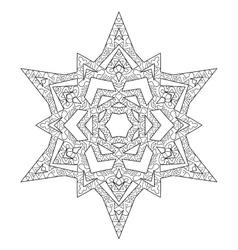 Hand drawn antistress snowflake vector