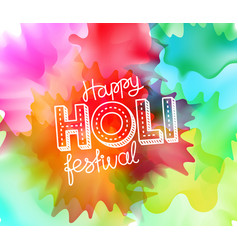 Happy holi festival banner greeting card party vector