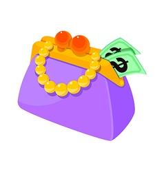 Icon purse vector