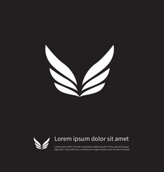 isolated freedom icon angel element can be vector image