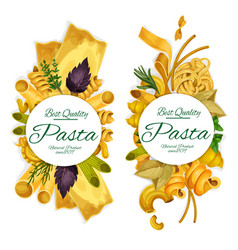 Italian pasta pund banners vector