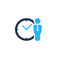 job time logo icon design vector image