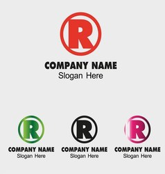 Letter R logo design template letter R icon vector image