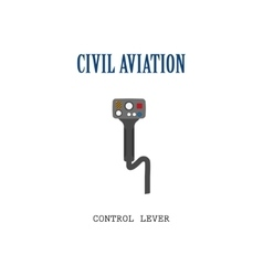 Lever control helicopter vector image