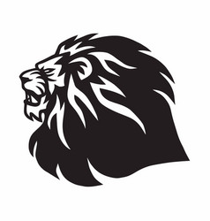 Lion roaring head logo vector