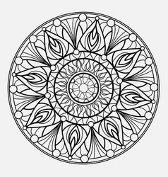 mandalas for coloring book decorative round vector image