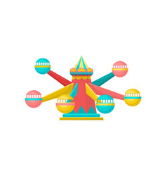 Merry go round carousel amusement park element vector