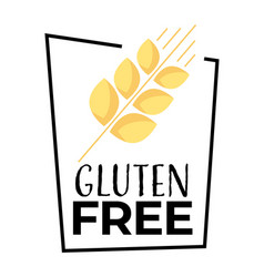 No wheat or gluten free product isolated icon vector