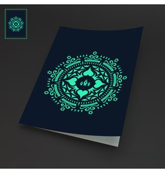 Notebook Cover Template Oriental Design vector image