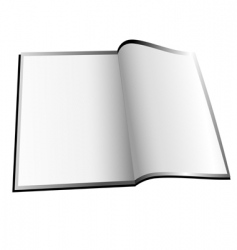 open booklet vector image