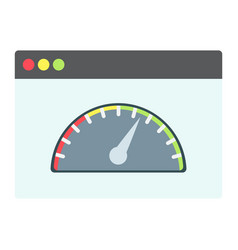 page speed flat icon seo and development vector image