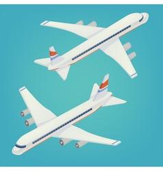 Passenger Airplane Isometric Passenger Airliner vector image