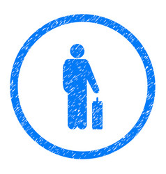 Passenger rounded grainy icon vector