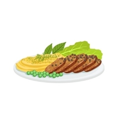 Pepper Meat European Cuisine Food Menu Item vector image
