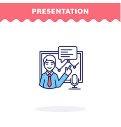 presentation icon flat design ui icon vector image