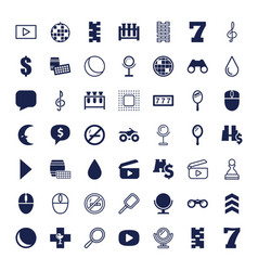 Reflection icons vector