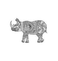 rhino animal ornament vector image