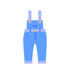 Romper suit of jeans poster vector