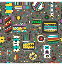 seamless bright pattern of abstract elements vector image
