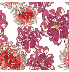 seamless floral wallpaper decorative vector image