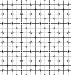 Seamless monochrome star shape grid pattern vector