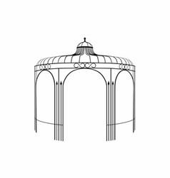Silhouette of a gazebo vector